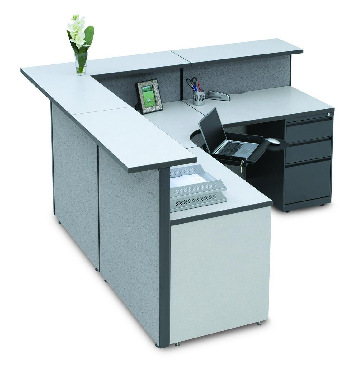 L Shape Cubicle Reception Desk Madison Liquidators