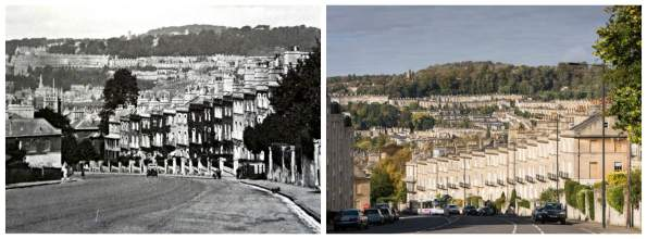 Dunsford Place Then and now