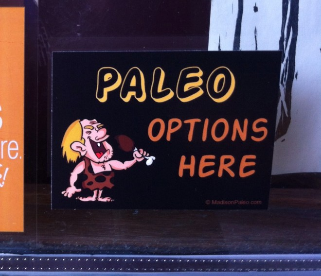 paleo options window decal