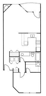 1 Bed / 1 Bath / 832 sq ft