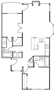 2 Bed / 2 Bath / 966 sq ft