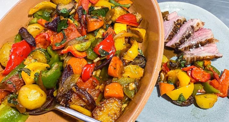 Råstegte grøntsager