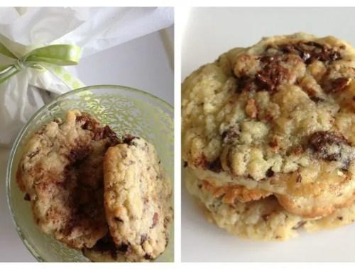 Cookies med mandler og chokolade