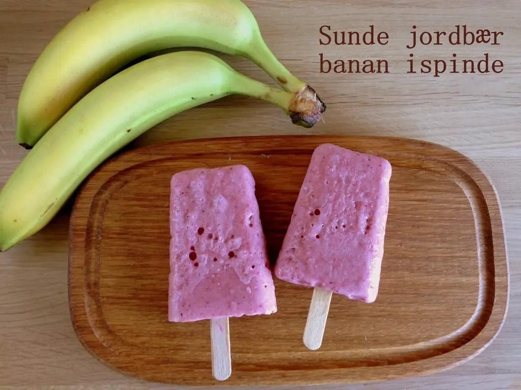 Sunde jordbær banan ispinde