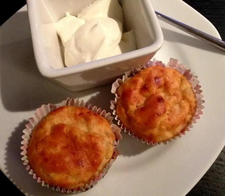 Low carb bananmuffins