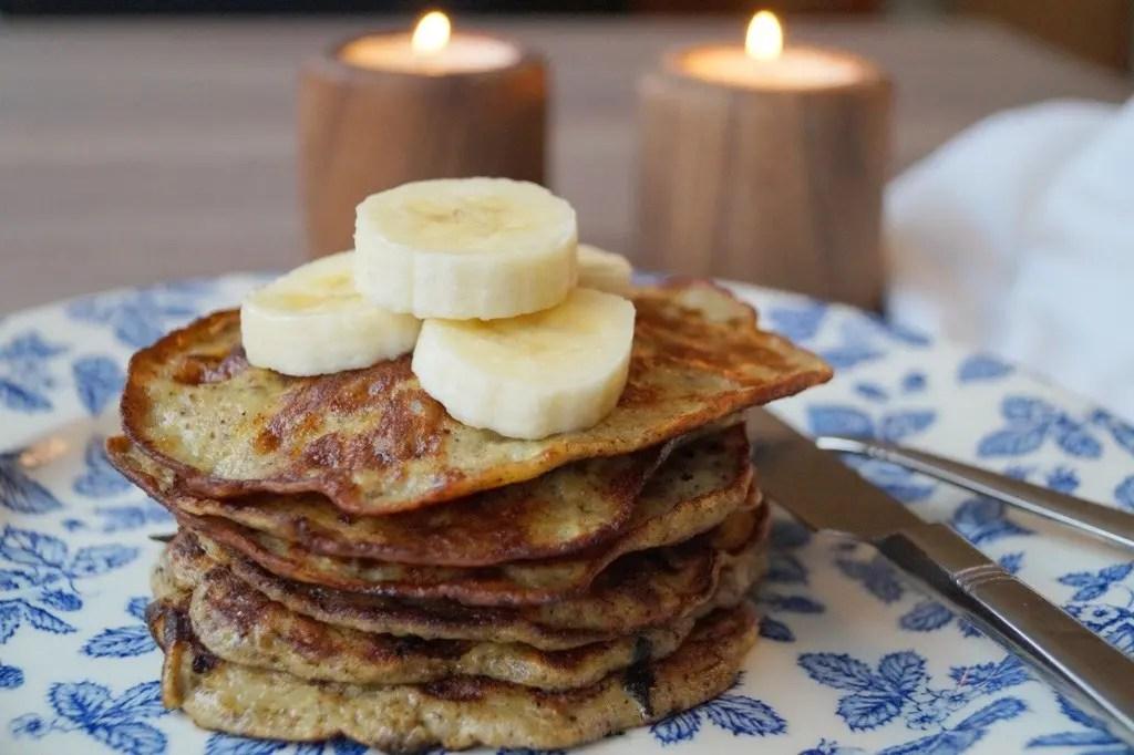 Bananpandekager uden mel og sukker