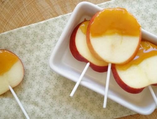 Æble-pinde med karamel