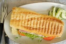 Panini med skinke og ost