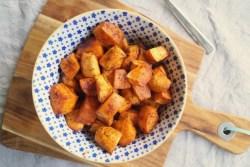 Bagte søde kartofler med paprika