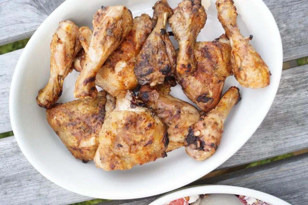 Kyllingelår på grillen