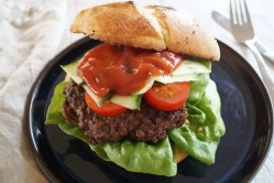 Ciabatta-burger med krydret bøf
