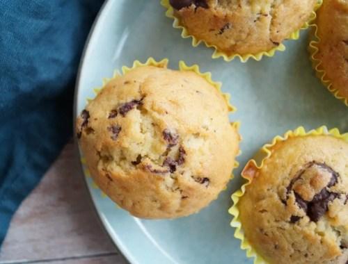 Bananmuffins med chokolade
