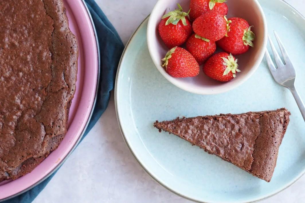 Blød chokolade kage
