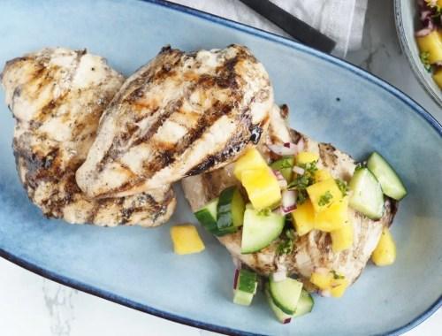 Grillet kylling med mangosalat