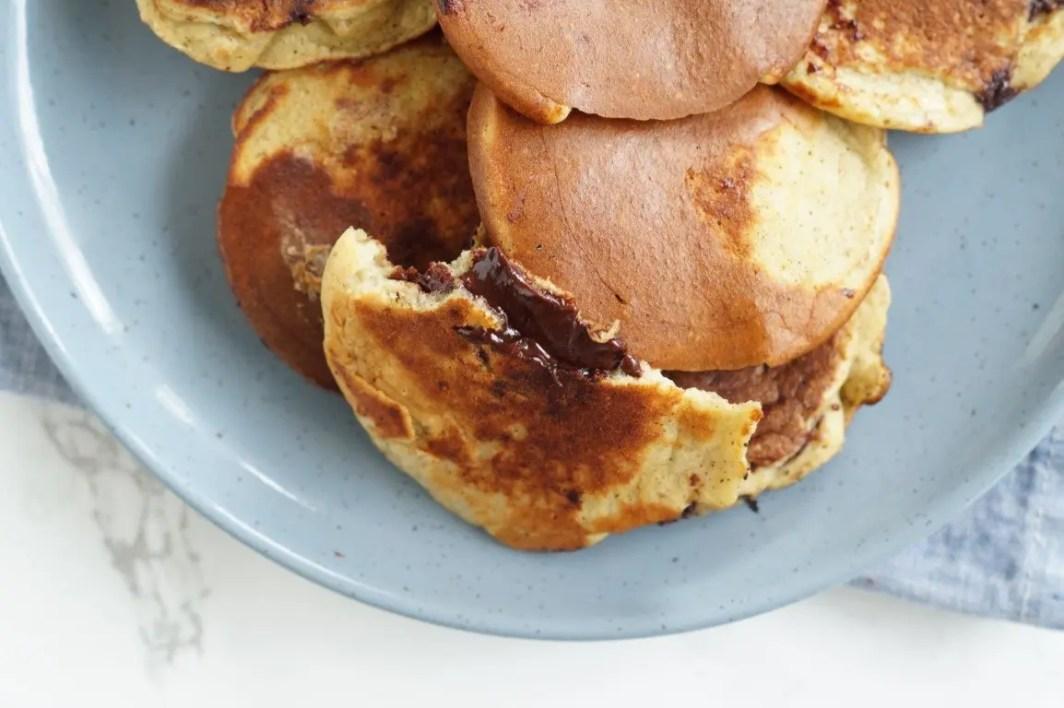 Sunde pandekager med chokolade