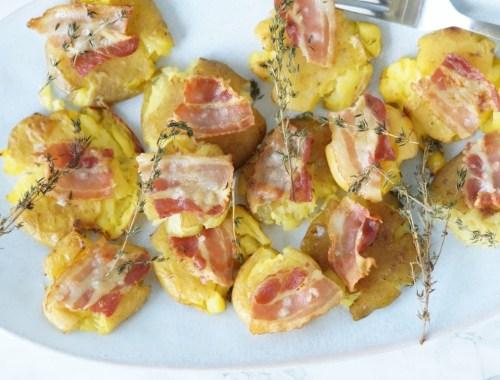 Knuste kartofler med bacon
