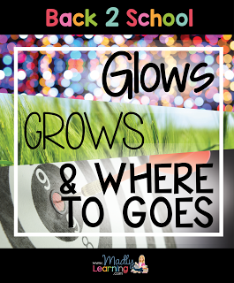 With a new school year comes reflection on the one before. What are your glows, grows, and where to goes?