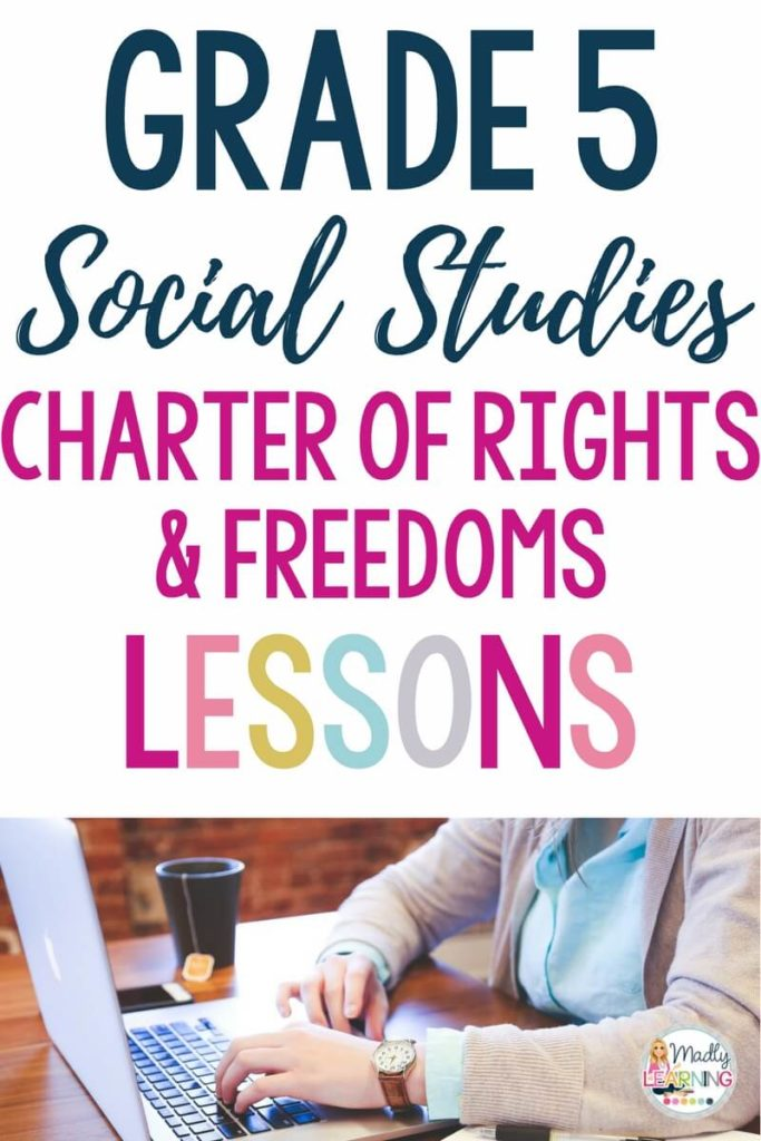 This Canadian Charter of Rights and Freedoms lessons is actually a three part series that will set students up for an inquiry study! lesson plans | grade five | elementary | Ontario | Canada | task cards |