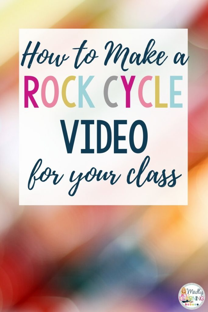 Get creative when teaching science. Check out this awesome video about making a rock cycle video, and learn how to make one yourself. science   elementary   teaching   students