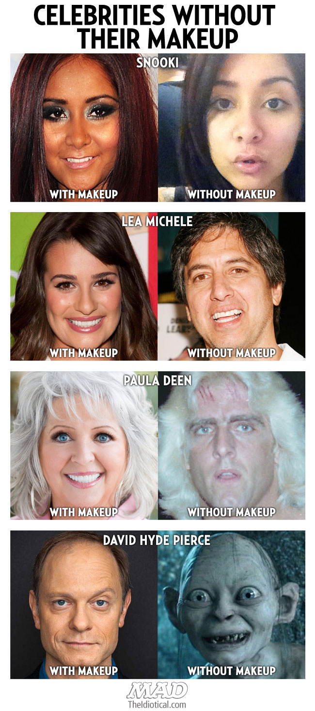 celebrities without their makeup | mad magazine