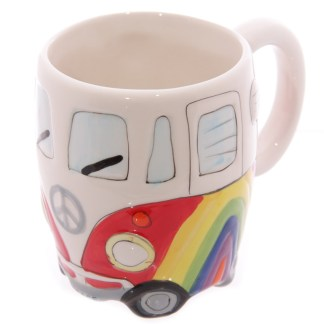 Mad Merch Camper Van Rainbow Mug