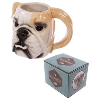 Mad Merch Bulldog Head Mug
