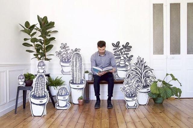 Jardin imaginaire - plantes carton - Tabas