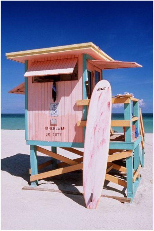 pink surf beach lifeguard