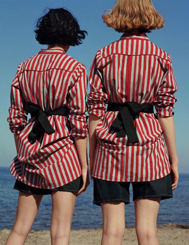 Heather Kemesky & Lou Schoof by Zoe Ghertnerfor Vogue UK January 2016
