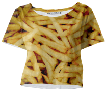 crop tee french fries
