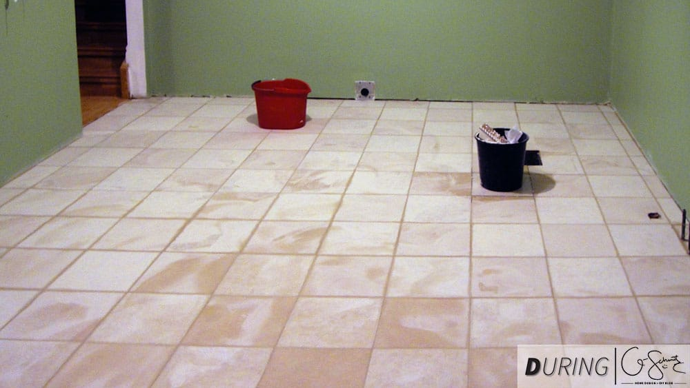 tiling the kitchen floors madness