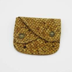Portefeuille couleur nature en liège pour homme et femme