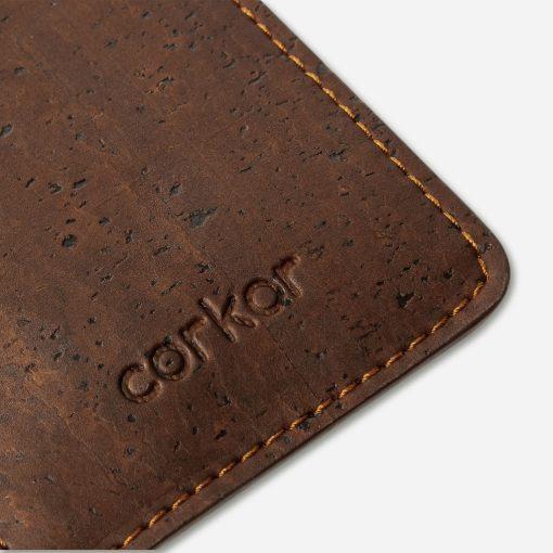 Porte cartes marron en liège mixte