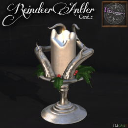 Reindeer Candle Poster 1024