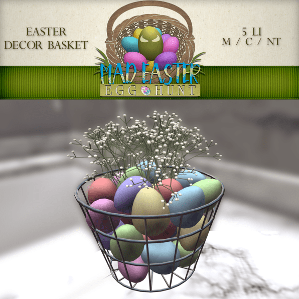 Easter Decor Basket 1500 Points