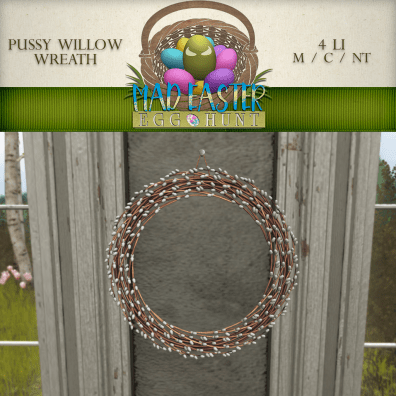 Pussy Willow Wreath 2000 Points