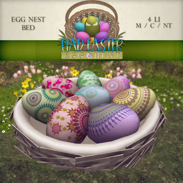 Egg Nest Bed 3000 Points