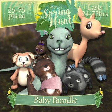"The ""Baby Bundle"" contains one of each Baby Animals, costs $3000L (you save $1000L)"
