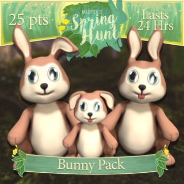 "The ""Bunny Pack"" costs $1275L, and has Momma, Daddy, Baby Bunny! (You save $225L)"