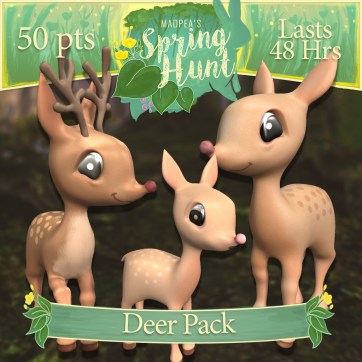 "The ""Deer Pack"" costs $1920L, lasts 48 hours, and has Momma, Daddy, Baby Deer! (You save $305L)"