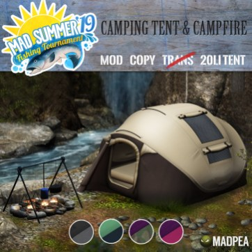 MadPea Camping Tent & Campfire PG - 1596 MadPoints!