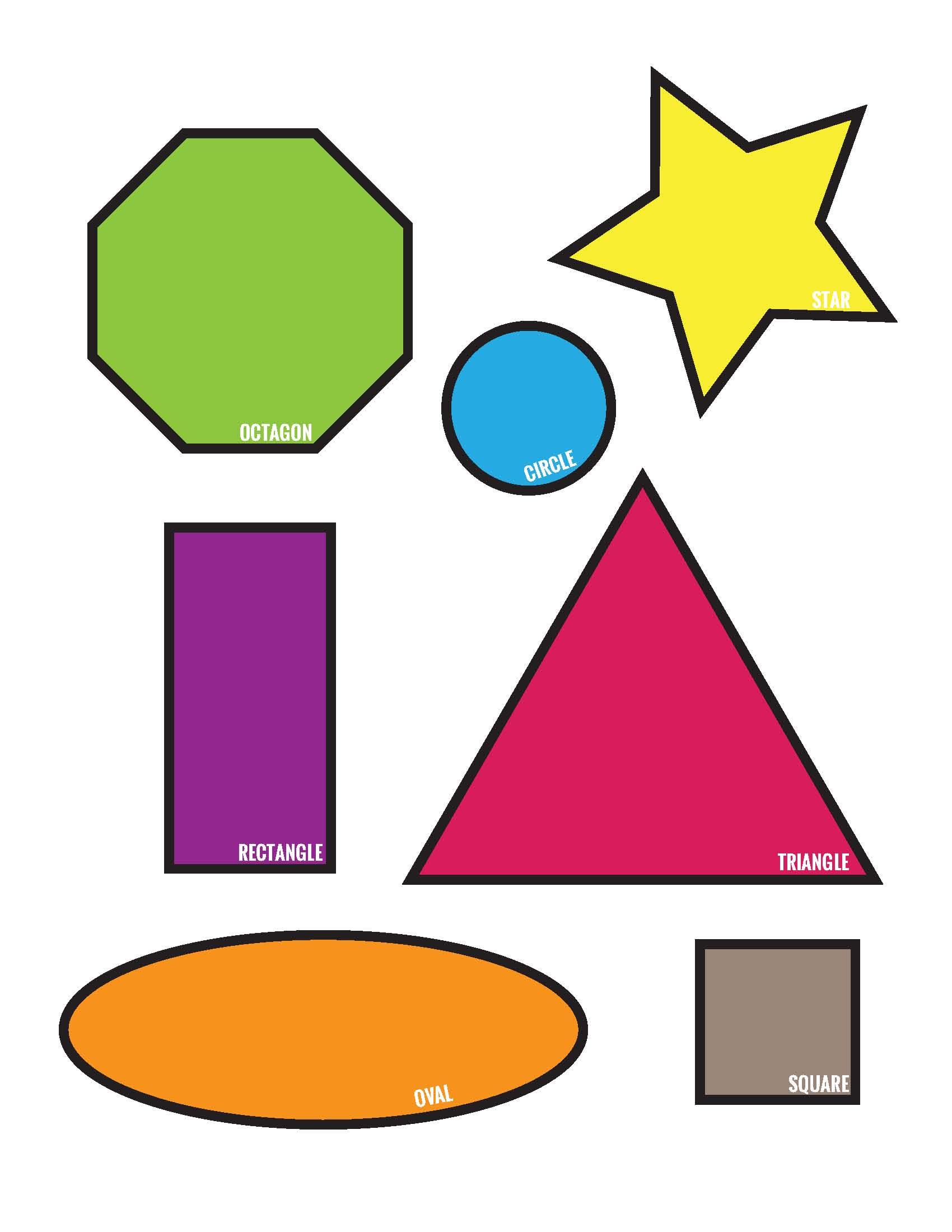 Freebies Colorful Shapes Matching File Folder Printable Game Free Download