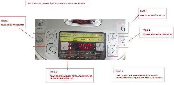 Programar en diferido el robot de cocina Moulinex Maxichef Advance