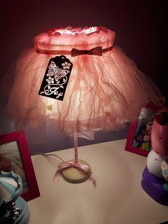 lámpara infantil ballet encendida