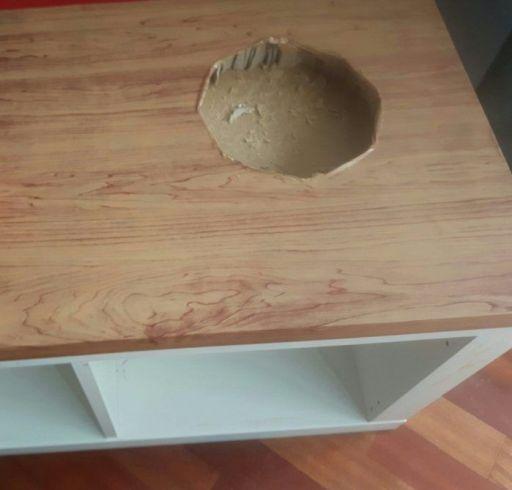 cocinita barata de madera