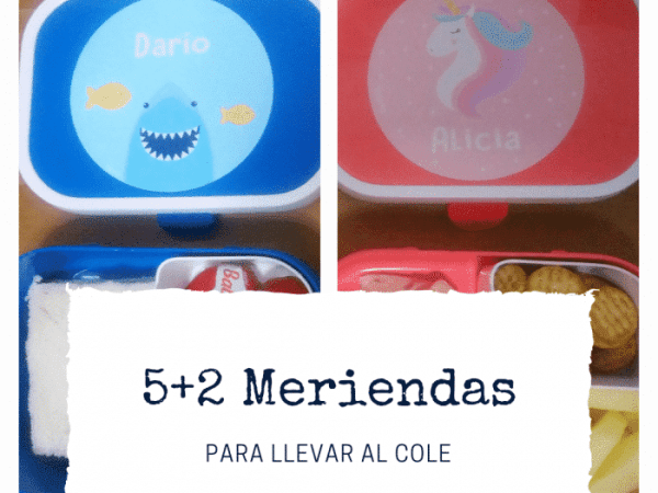 5+2 meriendas para niños, rápidas y fáciles de preparar