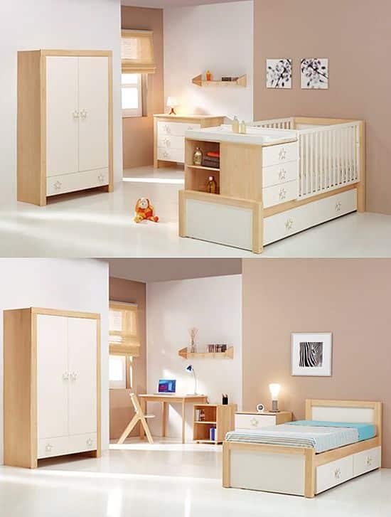 cunas que se convierten en camas para niños