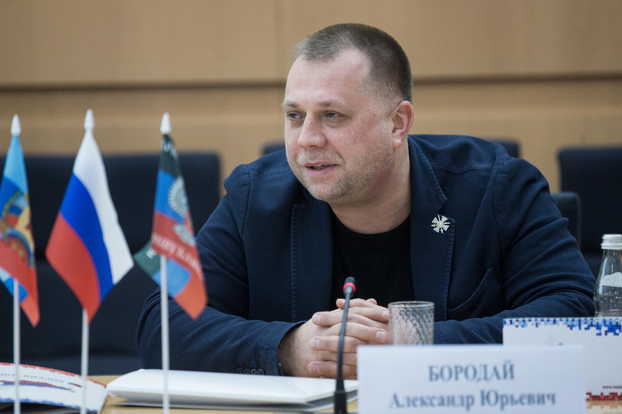 Il capo dell'Unione dei Volontari del Donbass Aleksandr Jurevič Borodaj