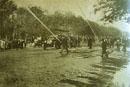 Maniobras en el Paseo de la  Castellana 1917