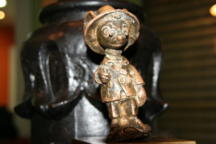 Estatua del Ratoncito Pérez en la calle del Arenal
